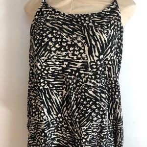Mossimo Women's Tribal/Animal Print Tank Top Lace